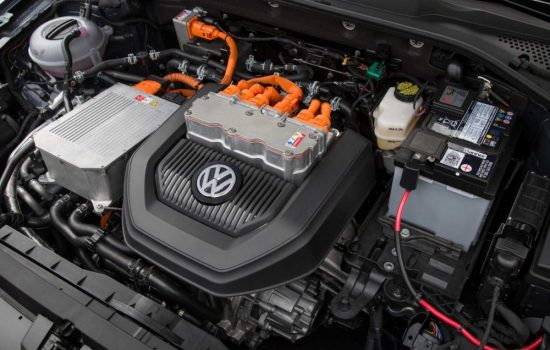 The electric engine of a Volkswagen eGolf EV. Image courtesy of Volkswagen.