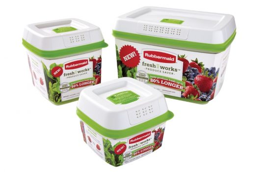 The FreshWorks Produce Saver unveiled by US company Rubbermaid could be a breakthrough in food storage - image courtesy of Rubbermaid.