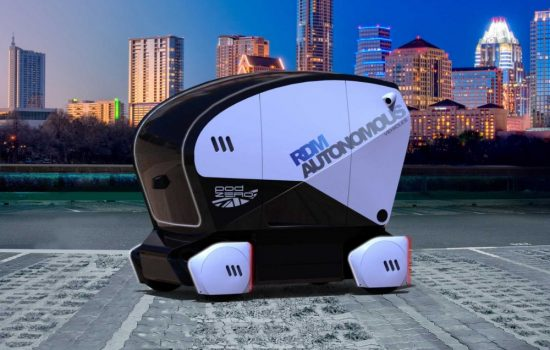 The next generation driverless car pod launched by RDM Group - image courtesy of RDM Group.