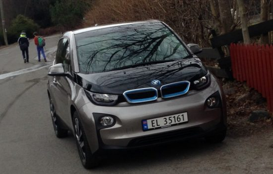 A BMW i3 Electric Vehicle in Norway. Image courtesy of Flickr - Butz.2013