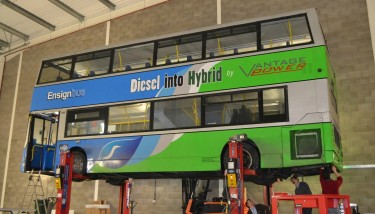 Vantage Power designs, manufactures and retrofits complete diesel-electric hybrid powertrains for buses already on the road - image courtesy of Vantage Power.