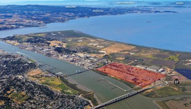 The proposed Faraday Future property is made up of 157 acres on North Mare Island with entitlements for a total of a million square feet of light industrial, office and commercial space - image courtesy of Vallejo City Council.