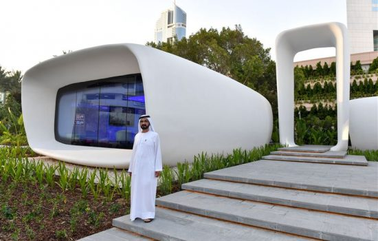 The 3D printed Office of the Future in Dubai. Image courtesy of the Government of the UAE.