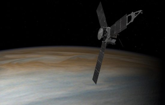 Nasa's Juno probe is now in orbit around Jupiter. Image courtesy of Nasa