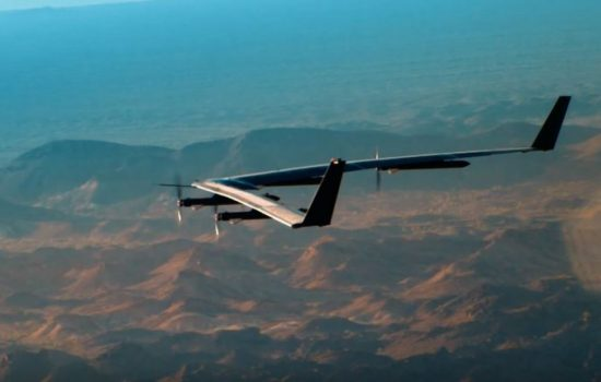 Facebook's Aquila drone flew for the first time last month. Image courtesy of Facebook.