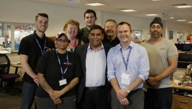 Khalid Mahmood and HydraForce Staff at grand opening