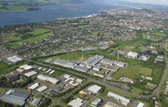 The Michelin Dundee plant from the air