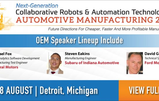 Next-Generation Collaborative Robots & Automation Technologies Automotive Manufacturing 2016