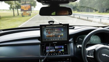 Connected & Autonomous Vehicle (CAV) technologies -  Initial tests will involve vehicle-to-vehicle and vehicle-to-infrastructure communications technologies - image courtesy of JLR.