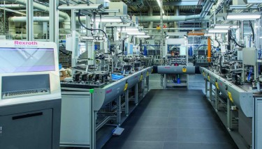 The go ahead for the Industry 4.0 assembly line at Homburg was taken in 2013 and it has been in operation since October 2014 – image courtesy of Bosch Rexroth.
