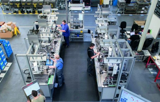 The Homburg plant manufactures hydraulic valves for mobile and industrial applications utilising Industry 4.0 technologies - image courtesy of Bosch Rexroth.