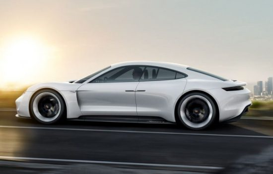 A computer rendering of the Porsche Mission E. Image courtesy of Porsche.