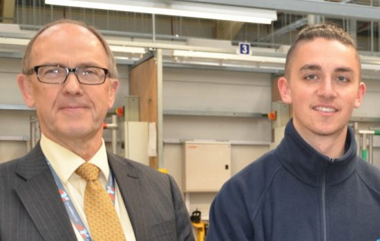 L to R: MD of Automotive Insulations Paul Walker and Reece Vann (shortlisted Apprentice of the Year).