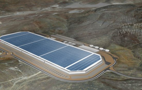 A computer rendering of the completed Gigafactory. Image courtesy of Tesla
