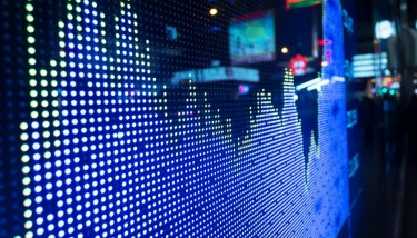 stock market big data analytics stock image