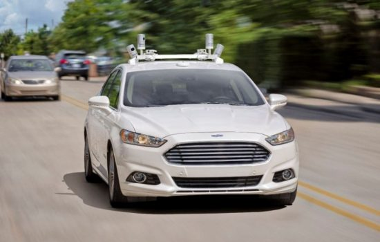 A prototype Ford autonomous vehicle. Image courtesy of Ford Motor Company.