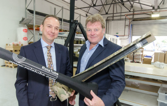 L to R: Richard Thwaites (Director, Emerging Technology Unit at Clydesdale and Yorkshire Bank and Richard Wood (Chief Executive, RTL Materials).