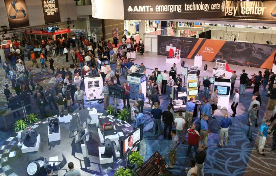 AMT's Emerging Technology Center at IMTS 2014. Photo by Oscar Einzig and image courtesy of IMTS