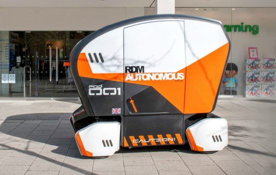 Autonomous Vehicle - The Pod Zero is being showcased for the first time - image courtesy of RDM - Autonomous Vehicles