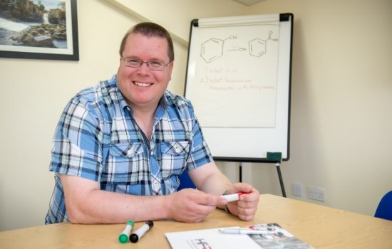 Iain Lawson has been appointed STEM Co-ordinator for the Durham-based chemical research firm - image courtesy of High Force Research.