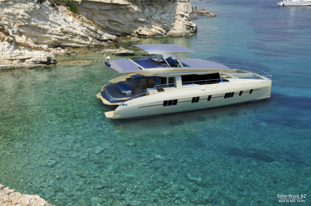 The Solarwave 62' solar powered boat by Nedship - image courtesy of Nedship