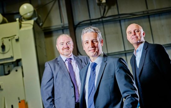 L to R: Ian Littleford (Lloyds Bank Commercial Banking), John Hickman (Moseley Brothers), and Mark Meakin (Lloyds Bank Commercial Banking).