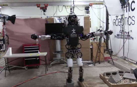 The Boston Dynamics humanoid robot, Atlas, showcasing its balancing abilities - image courtesy of IHMC and Youtube