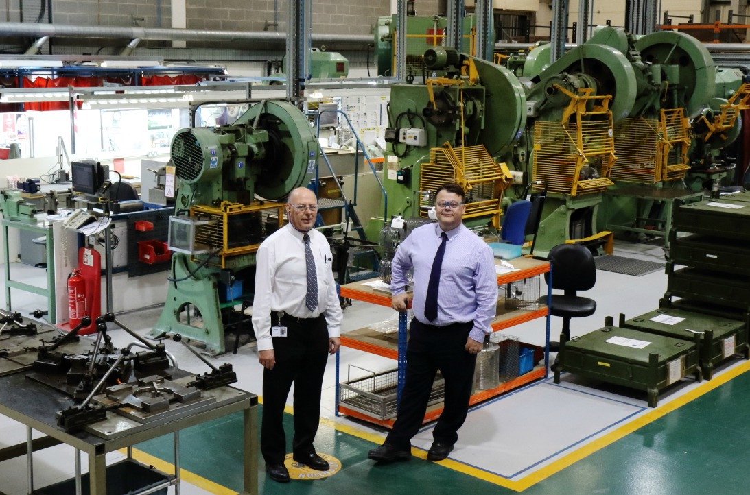 Paul Fabrications nuclear operations manager, Peter Tryner and business development executive, Kevin Dexter in the firm's nuclear workshop in Castle Donington - image courtesy of Paul Fabrications.