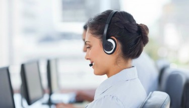 Stock Image Customer Call Centre Headset Phone