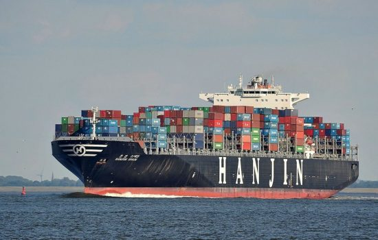 Many Hanjin ships are stuck at sea following the company's bankruptcy. Image courtesy of Wikipedia Commons.