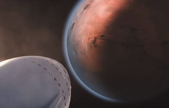The SpaceX ITS is one possible way humans could reach Mars in coming years. Image courtesy of SpaceX.