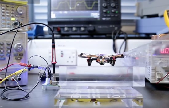 Wireless power allows this drone to fly forever - image courtesy of Dr Sam Aldhaher and Youtube