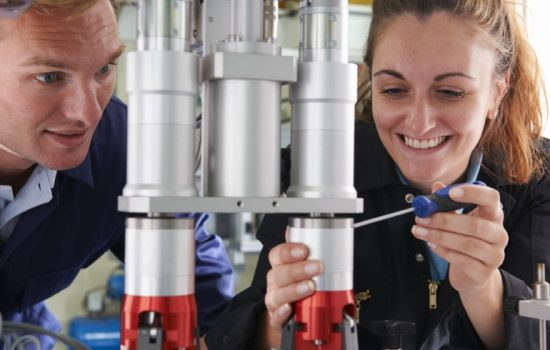 Young Engineers STEM Apprentices Engineering Stock Image