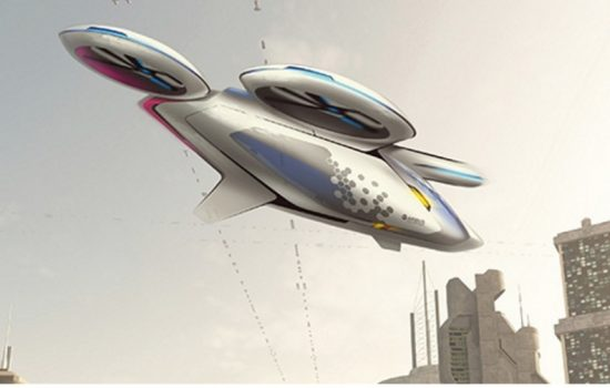 Artist's impression of the multipropeller City Airbus vehicle being developed as a part of the Airbus Vahana project - image courtesy of Airbus