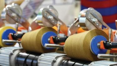 UK Manufacturers UK Manufacturing Textiles Fabric Thread Stock Image