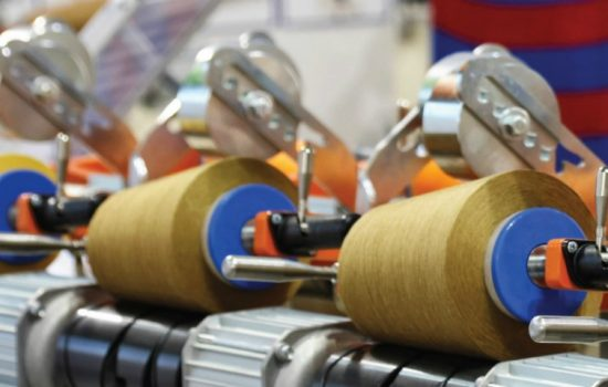 UK Manufacturers UK Manufacturing Textiles Fabric Thread Stock Image