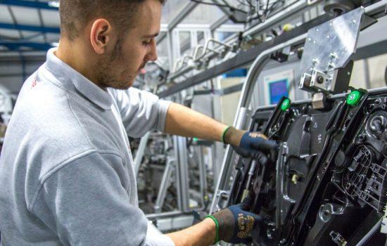Brose UK's production line for Nissan components - image courtesy of Brose UK.