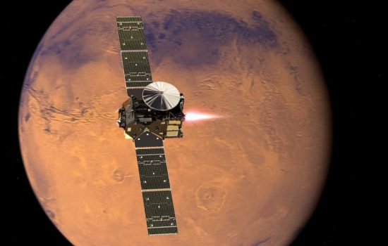The ExoMars Trace Gas Orbiter sucessfully reached Mars. Image courtesy of ESA