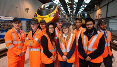 Alstom apprentices at Longsight, Manchester - image courtesy of Alstom.