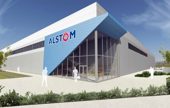 An artist's impression of Alstom's new technology centre and training academy in Widnes - image courtesy of Alstom.