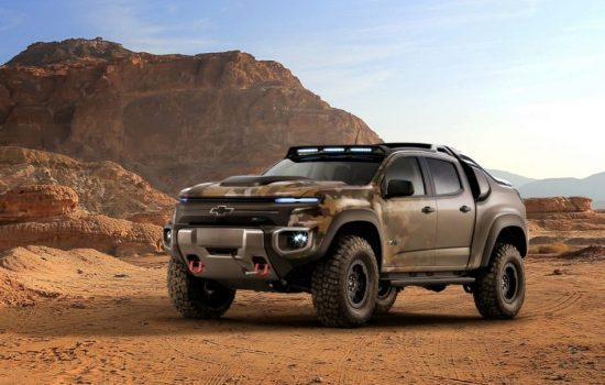 The Chevrolet ZH2 is a mid-sized pickup designed for the US Army. Image courtesy of GM.