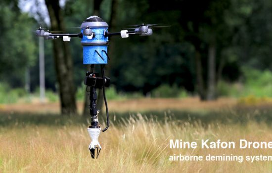 Introducing the Mine Kafon Drone, an airborne drone for detecting land mines - image courtesy of Mine Kafon Foundation and Kickstarter