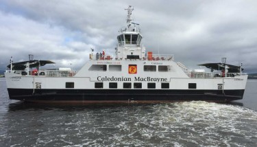 Catriona, the new ferry recently launched by the Ferguson Yard on the Clyde, bought out of closure by Jim McColl's Clyde Blowers Group - image courtesy of Clyde Blowers Group.