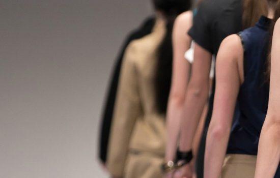 Fashion Runway Model Textiles Stock Image