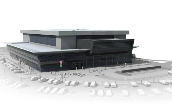 An artist's impression of what the Broughton (North Wales) Advanced Manufacturing & Research Institute will look like in.