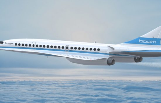 An artist's impression of the Boom Technology XB-1 supersonic plane in flight - image courtesy of Boom Technology.