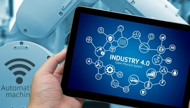 Stock Image Industry 4.0 Fourth Industrial Revolution Automation Robot Technology