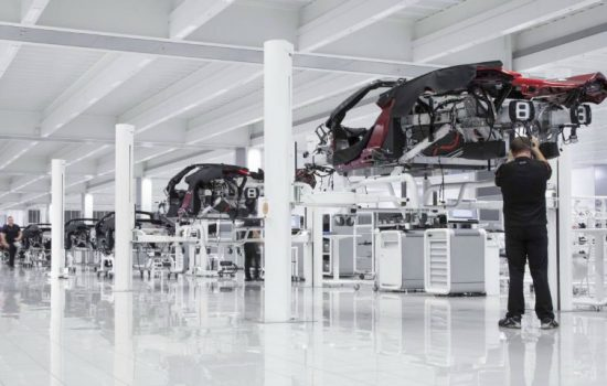 Production at the McLaren Technology Centre - image courtesy of McLaren Automotive.