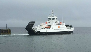 The MV Catriona will ply the crossing between Claonaig on the Kintyre peninsula to Lochranza on the Isle of Arran.