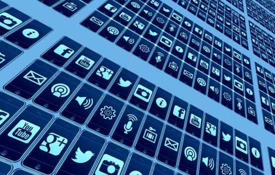 The many icons of social media - image courtesy of Pixabay